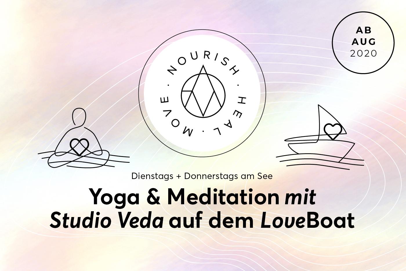 Yoga Meditation mit Studio Veda auf dem LoveBoat ab Aug 2020